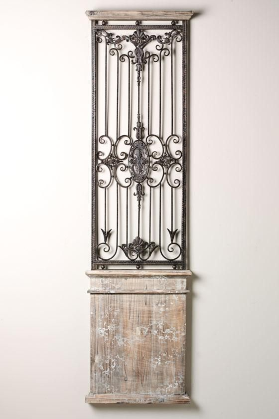 null Baroness 71 in. Iron/Wood Wall Gate | Now | Pinterest | Iron ...