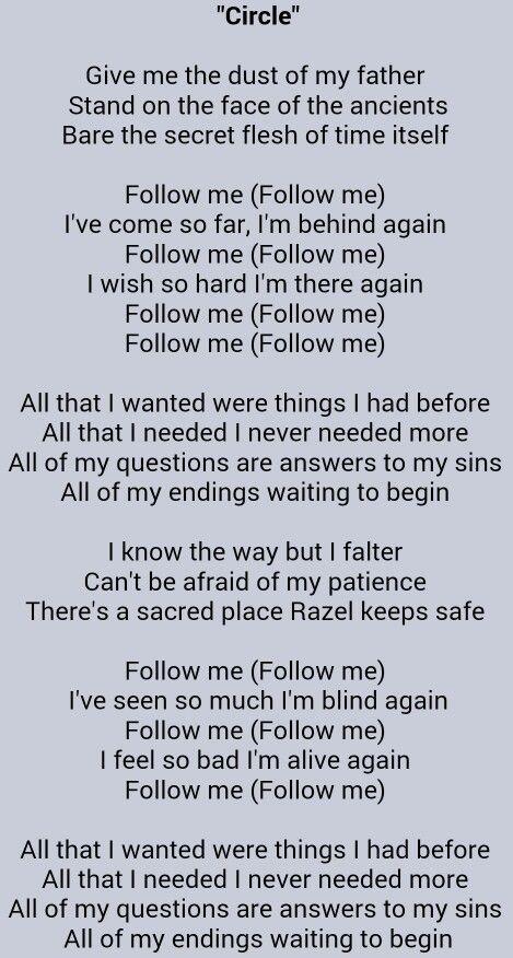 Circle - Slipknot | Song Lyrics | Slipknot songs, Slipknot lyrics