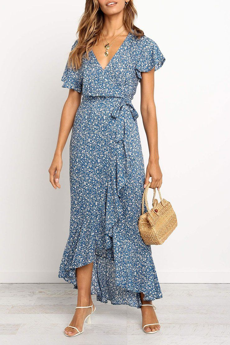 Eavah Flounce Design Baby Blue Dress Long Summer Dresses Maxi Womens Maxi Dresses Printed Beach Dresses [ 1110 x 740 Pixel ]