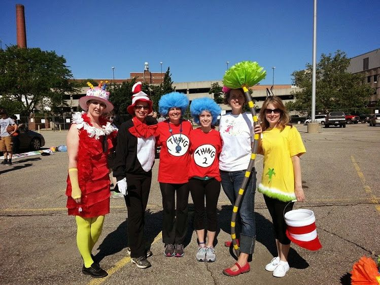 Our Dr Seuss costumes! SLD Read is Turning 40 - Dr Seuss Style - dr seuss halloween costume ideas