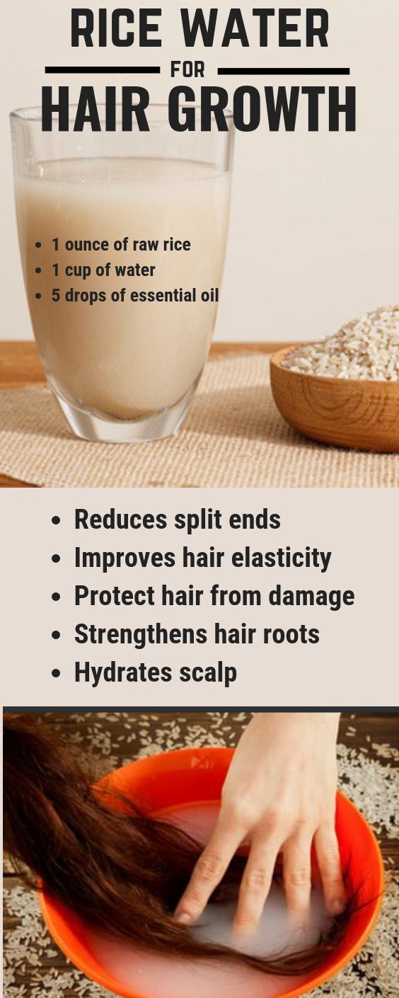 Use rice water for fast hair growth naturally!! #naturalhaircareproducts