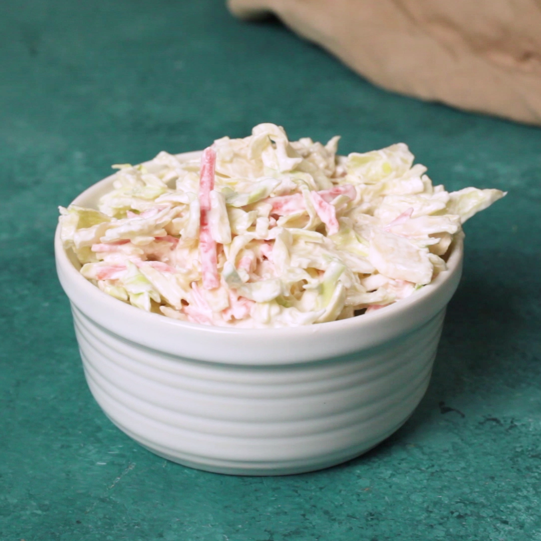 Creamy No Mayo Coleslaw Video Coleslaw Recipe Easy Homemade Coleslaw Coleslaw Recipe