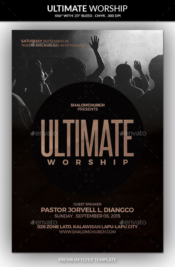 Ultimate Worship Church Flyer  Flyer Template Worship And Churches