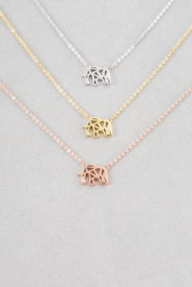 Elephant Necklace (18K & 24K Gold)