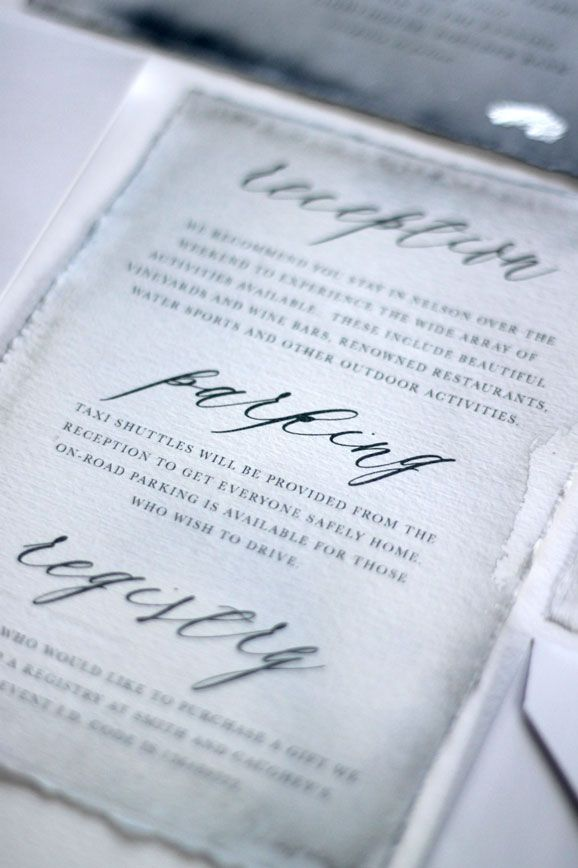 An invitation design studio based in New Zealand, designing for the ...