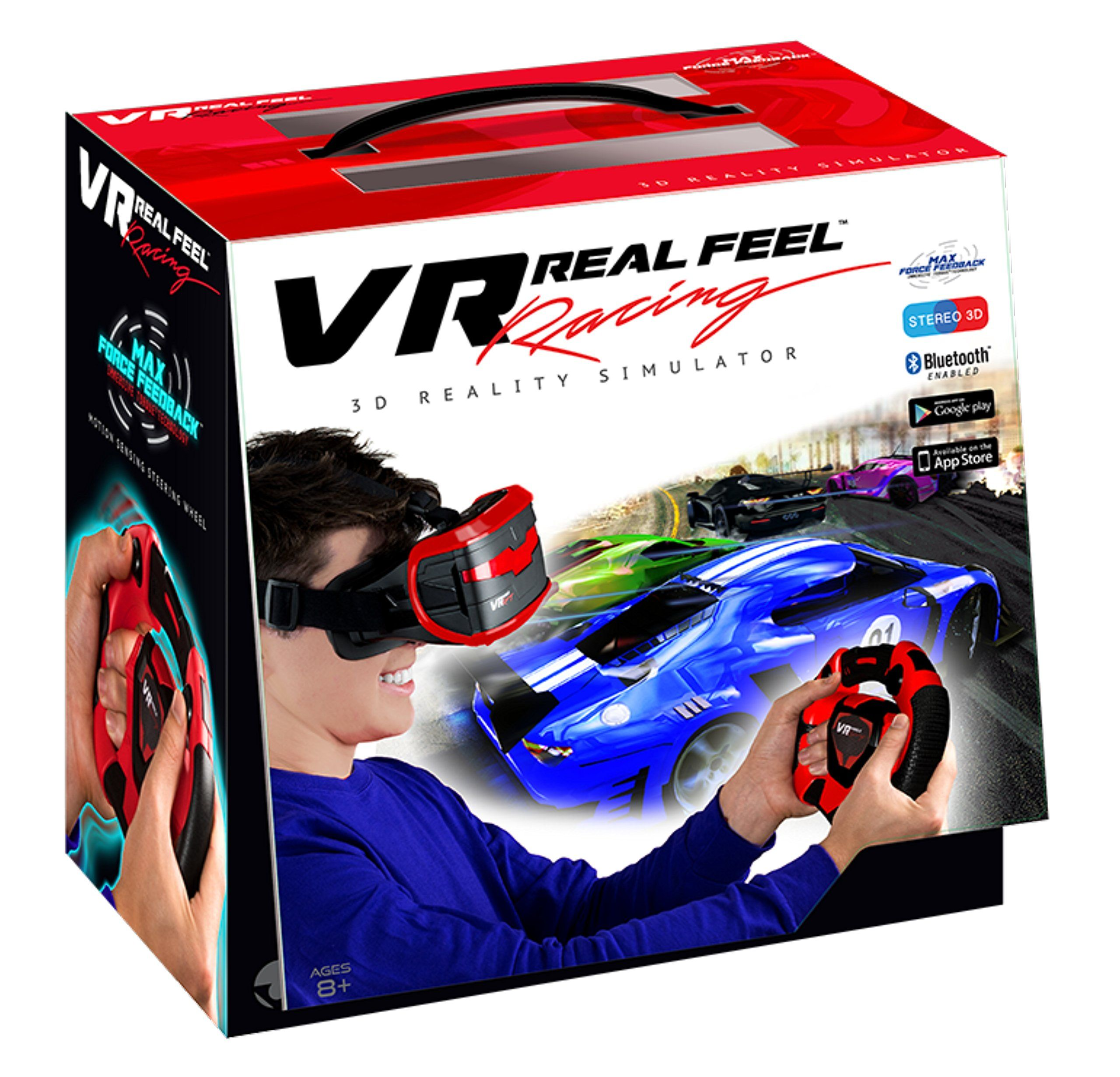 Vr Real Feel Virtual Reality Car Racing Gaming System With Bluetooth Steering Wheel And Headset Goggles Viewer Glasses For Ios I Vr Apps Virtual Reality Racing