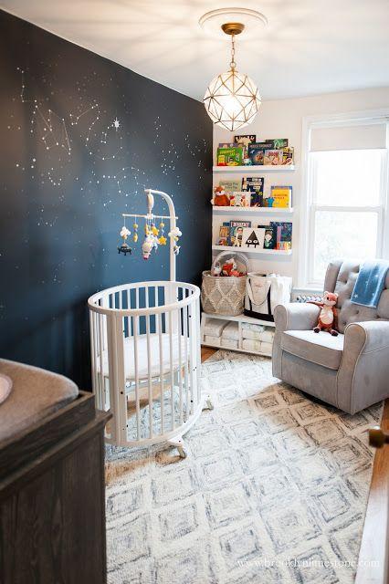 Girl Astronaut Nursery Makeover Space Themed Nursery Baby Room Decor Small Space Nursery