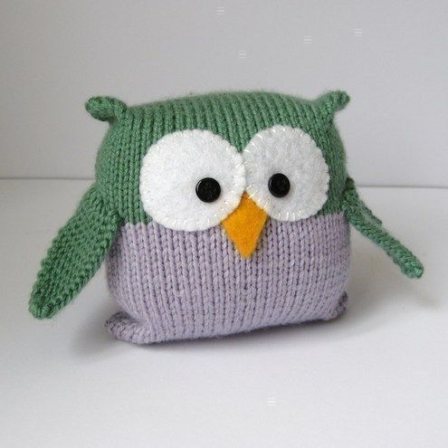 Tooley Owl Toy Knitting Pattern For Beginners From Fluff And Fuzz
