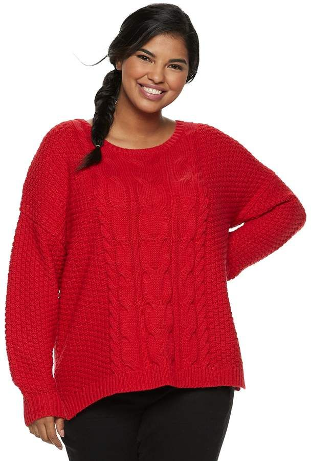 So Juniors Plus Size So Cable Knit Sweater Products Cable Knit