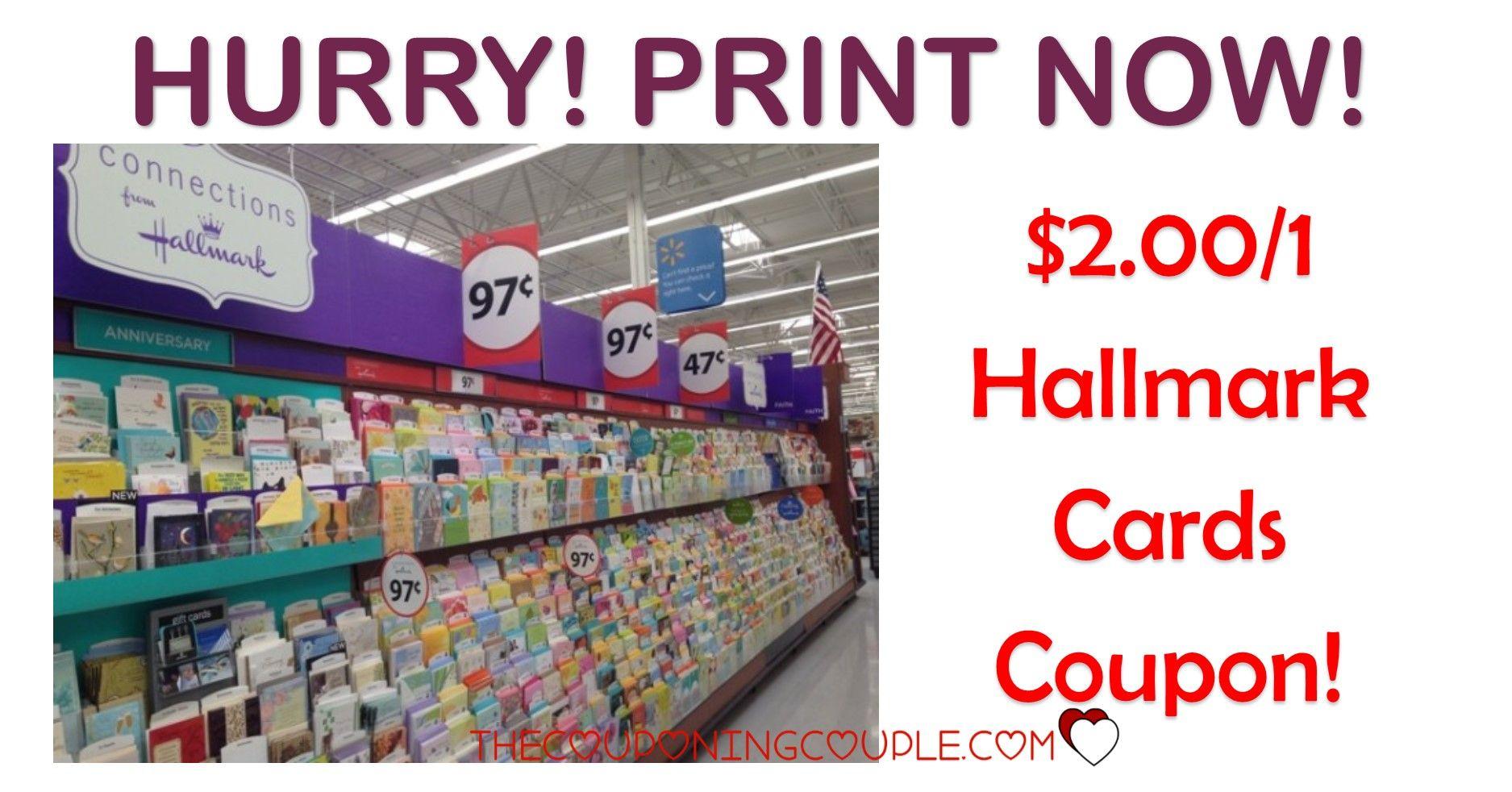 1 00 2 hallmark cards coupon print now
