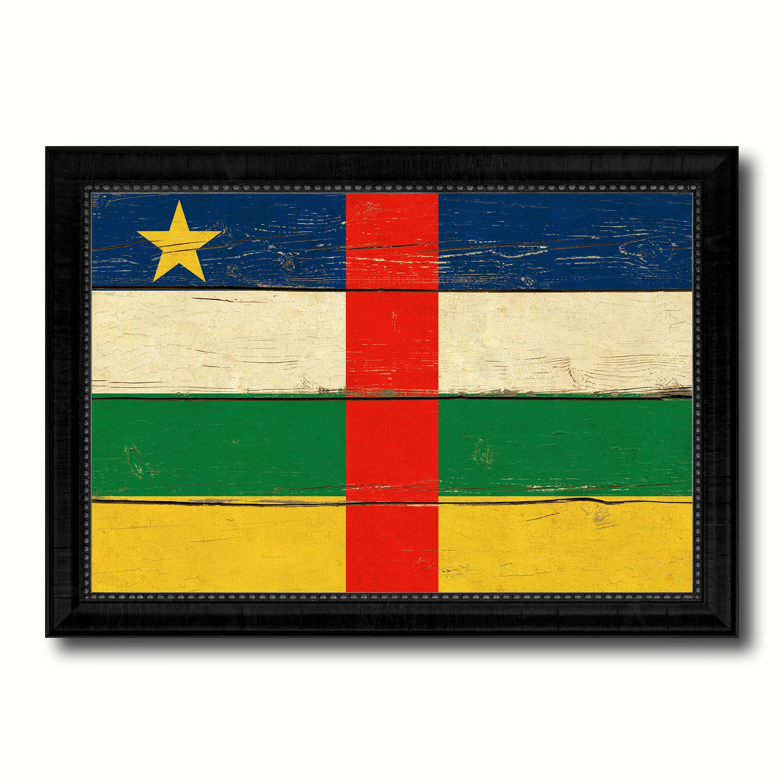 Central African Republic Country Flag Vintage Canvas Print with ...