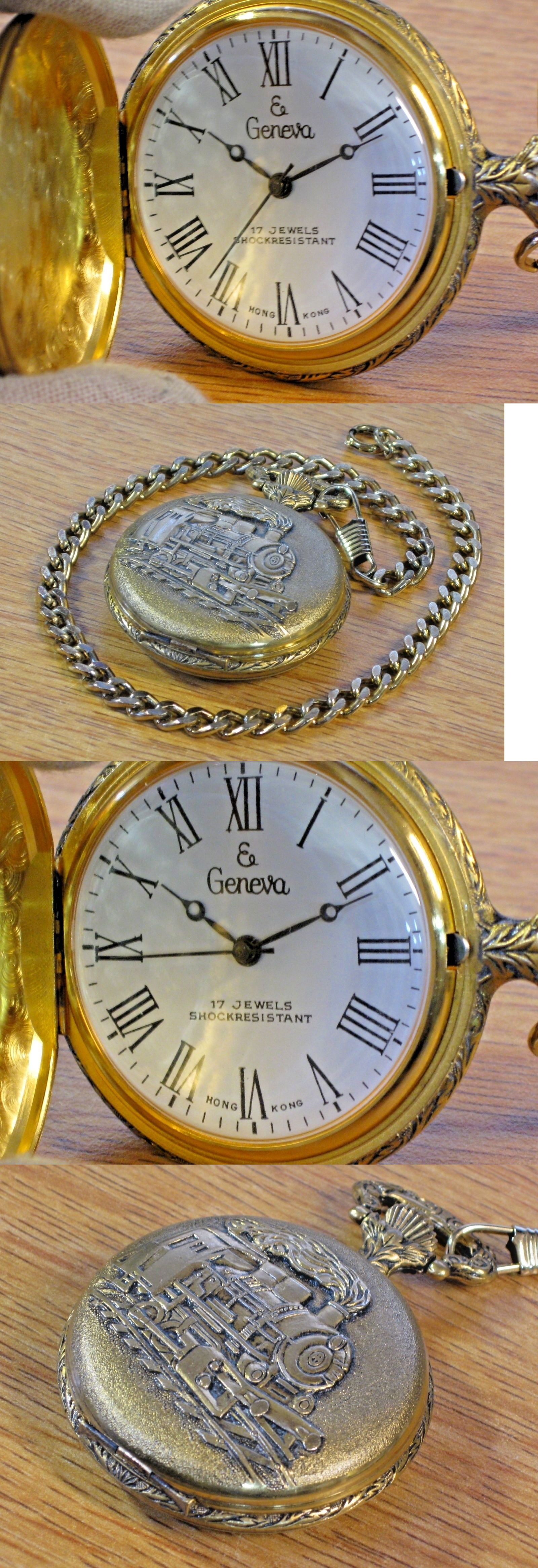 antique railroad conductor geneva pocket pin up wind mens w jewels watches vintage elgin watch