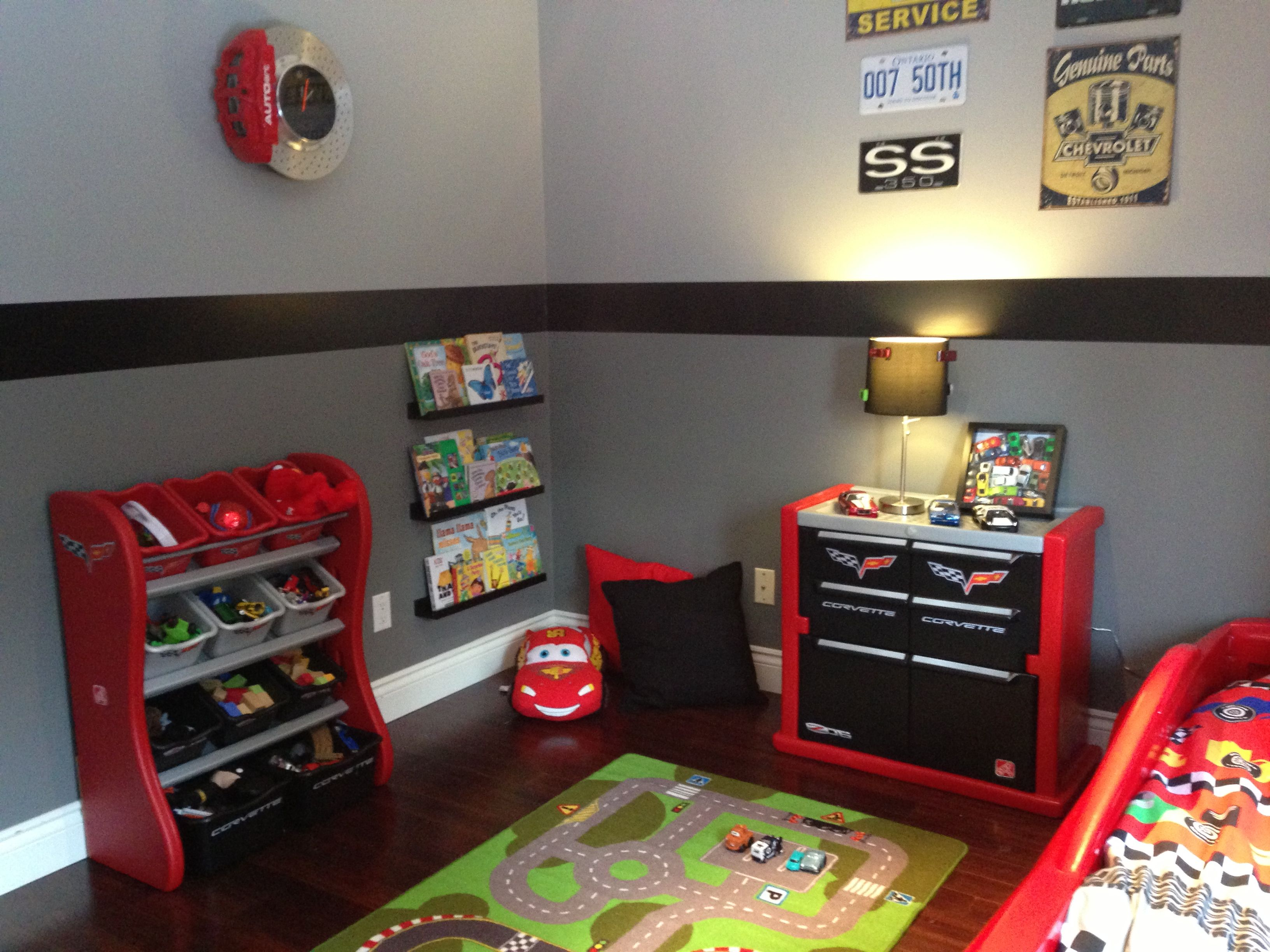 Pin By Tatems On Kids Car Themed Bedrooms Boy Toddler Bedroom