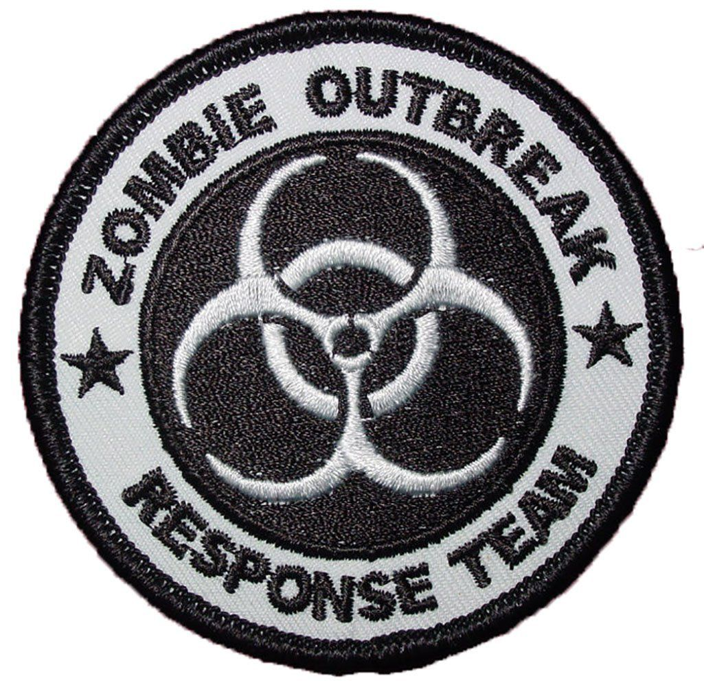 Amazon single count custom and unique 3 inch quarantine single count custom and unique inch quarantine bio hazard zombie outbreak response team iron on embroidered applique patch black and white colors biocorpaavc Image collections