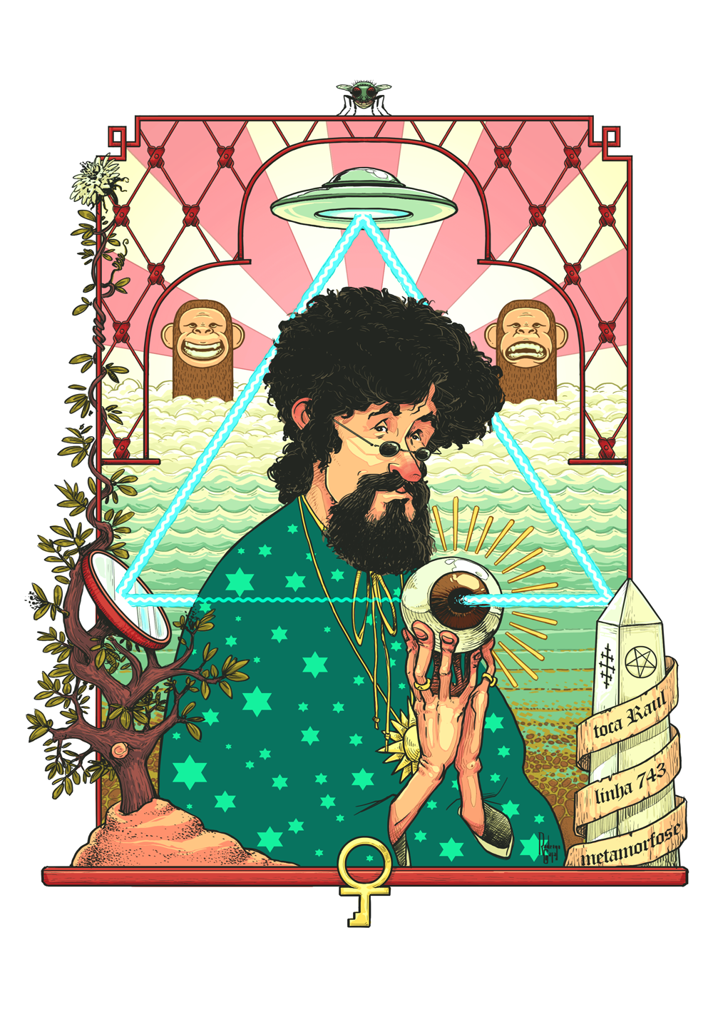 Toca Raul!!!Ilustração pra edição #175 da revista Continente