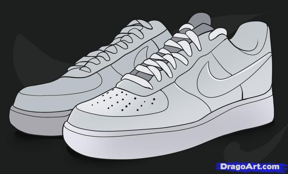 Exceptional How To Draw Nike, How To Draw Air Force Ones