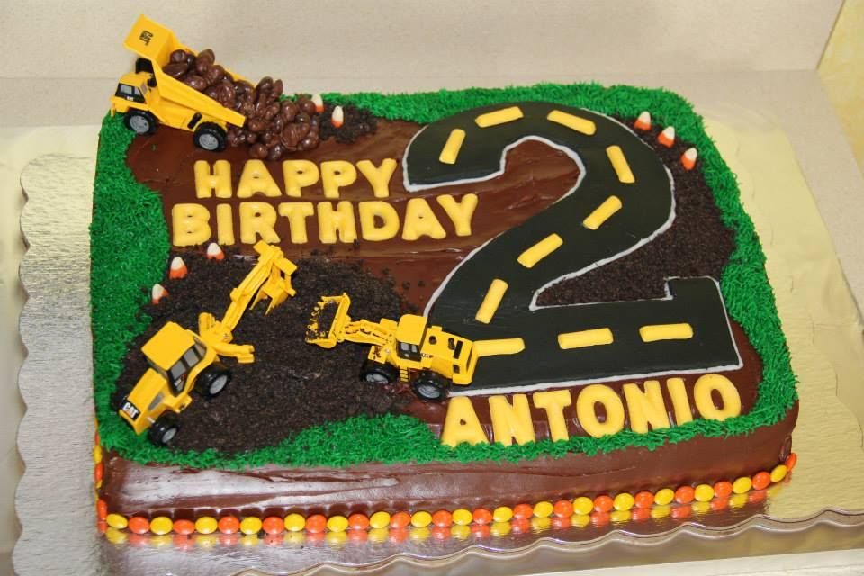 Construction Truck Birthday Cake Antonios Birthday Pinterest