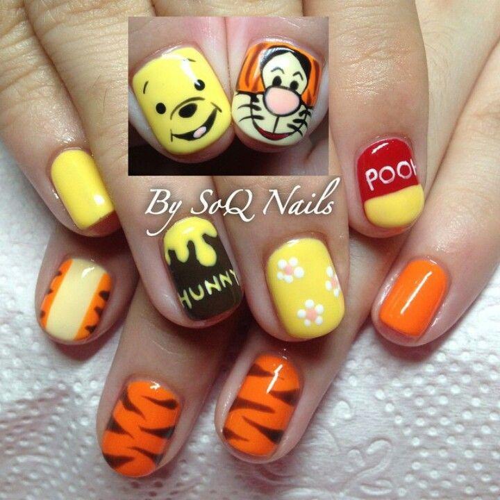 Winnie the pooh & Tigger nails art by @soqnails | nails ...