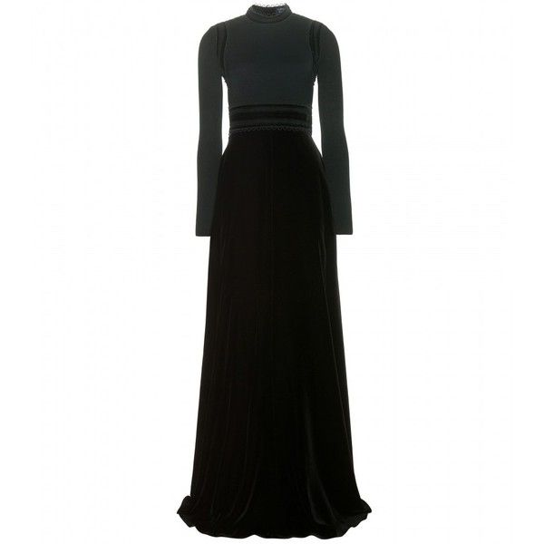 Velvet gown Lanvin ($6,910) ❤ liked on Polyvore featuring dresses ...