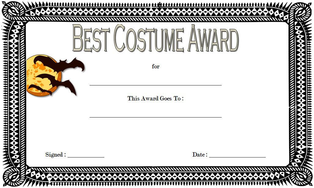 Halloween Costume Certificate Template Free 4 Certificate Templates Template Free Templates