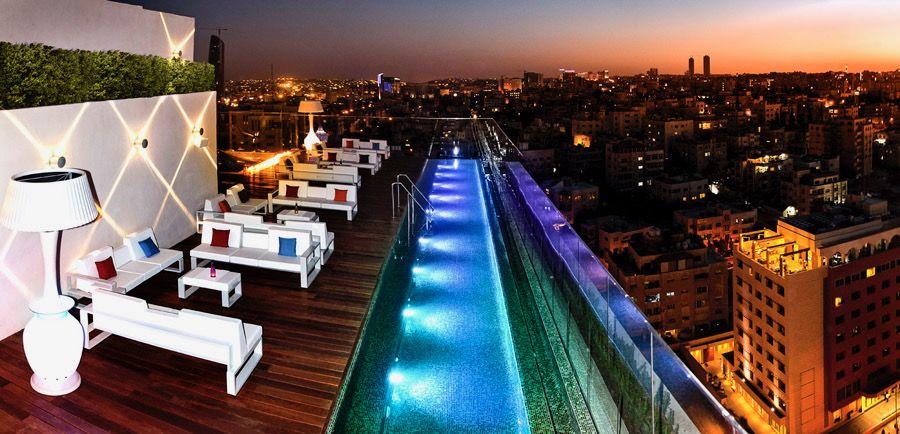 Kindle Living Heat Lamps At Uroof Lounge In Amman Jordan Patio Heater Rooftop Pool Regency