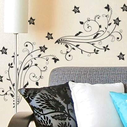 DCWV Floral Wall Decal