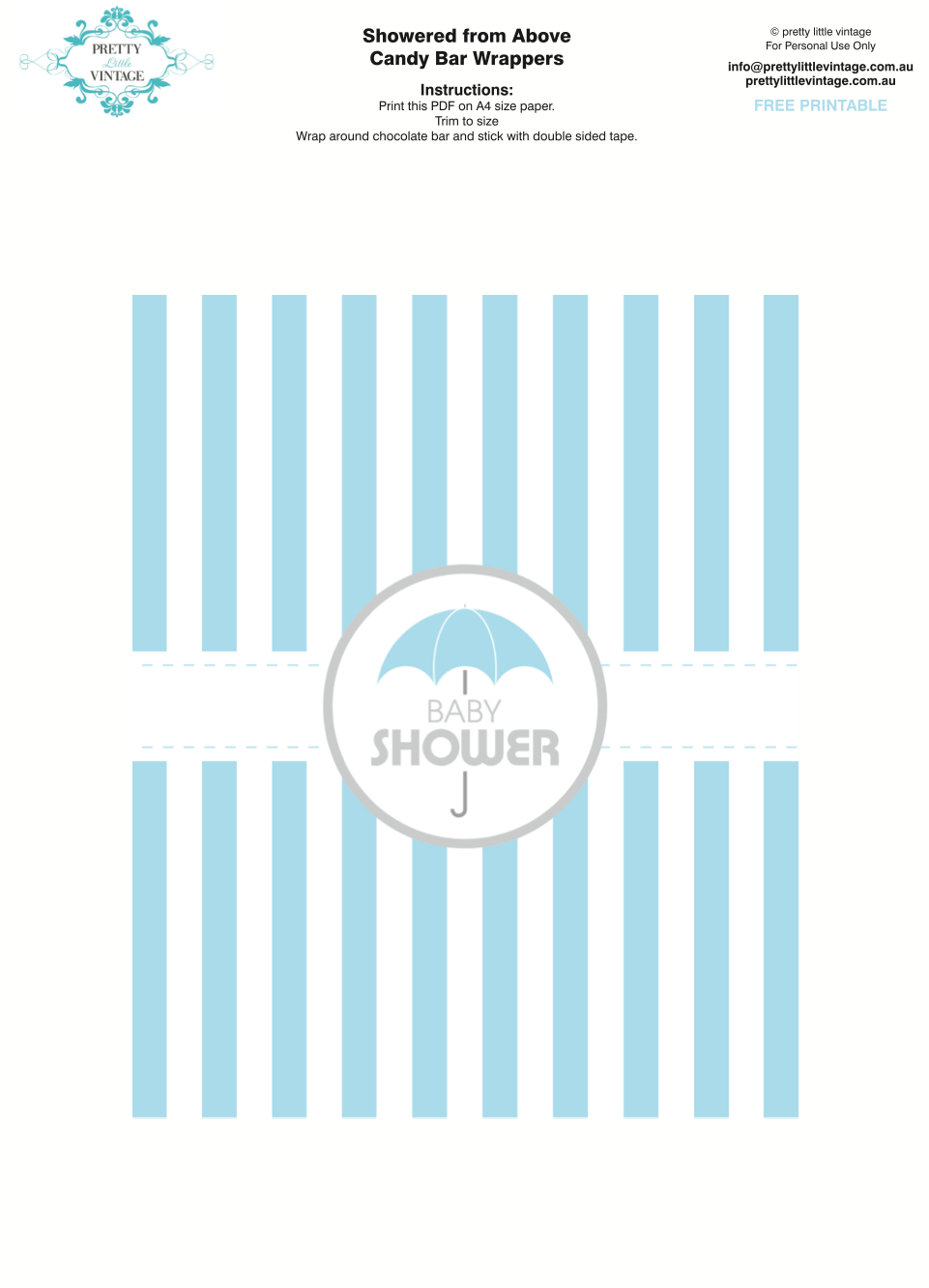 graphic relating to Free Printable Baby Shower Candy Bar Wrappers called Showered Towards Earlier mentioned Rain Boy Boy or girl Shower Printables Developing