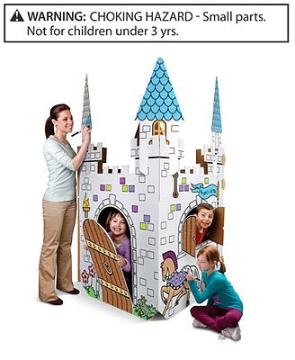 Discovery Kids Color and Play Cardboard Castle | regulus 1 year ...