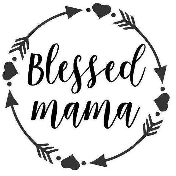 Cute blessed mama wall decal sticker window car vehicle