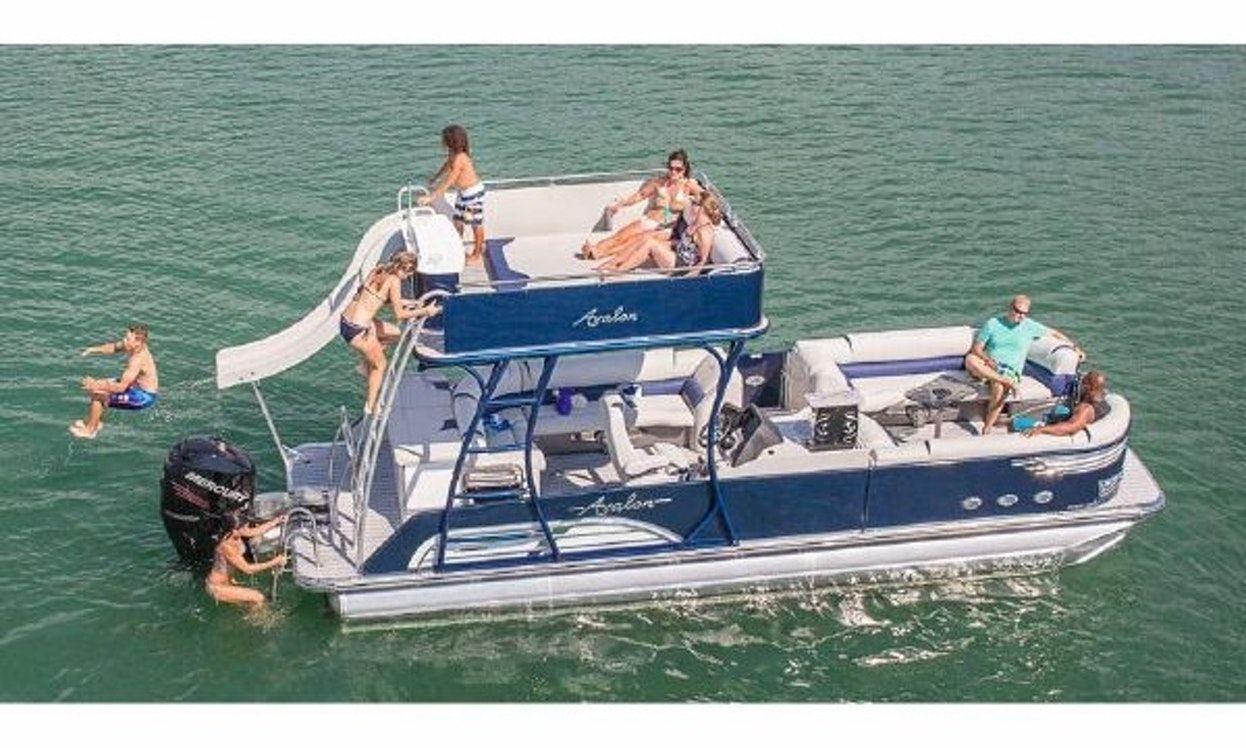 Double decker pontoon rental in austin getmyboat power