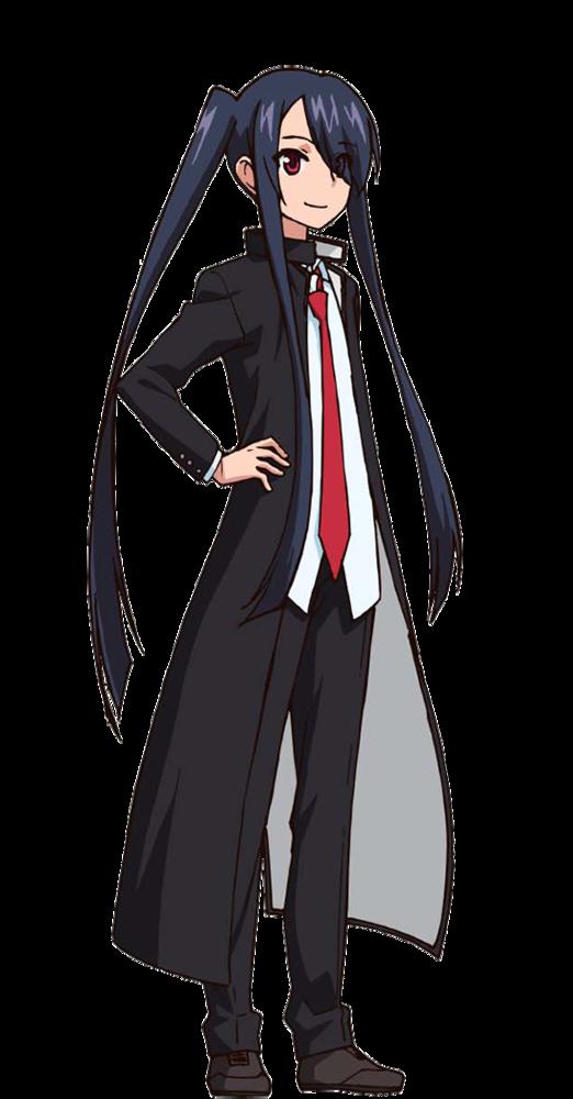 UQ Holder Kuroumaru Tokisaka Grey Blue Cosplay Wig