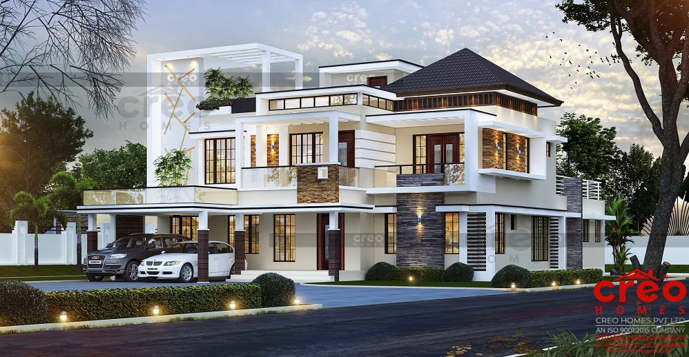 Best Home Designers In Kochi Kerala House Design House Balcony Design Bungalow House Design