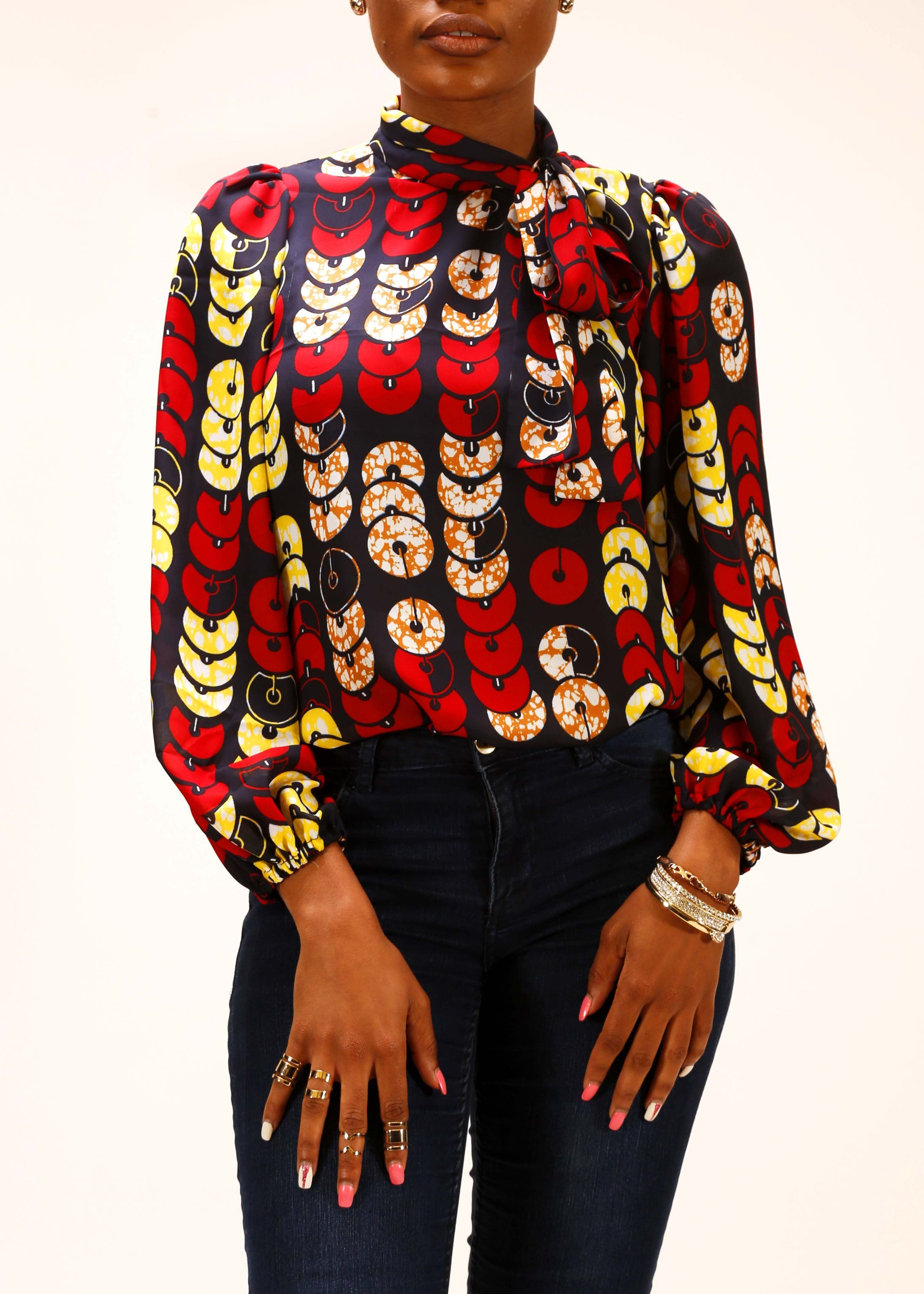 chiffon blouse styles latest ankara dress styles wax vetement africain 5003