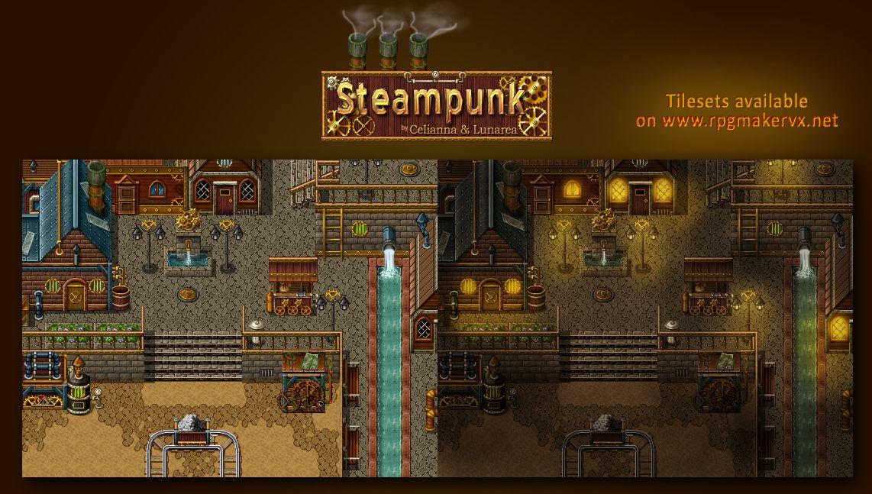 Steampunk Tiles by PinkFireFly on DeviantArt | RPG Maker