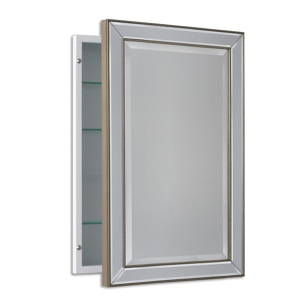 16 X 26 Metro Beaded Recessed Medicine Cabinet Head West In 2020 Recessed Medicine Cabinet Bathroom Medicine Cabinet Mirror Mirror Cabinets