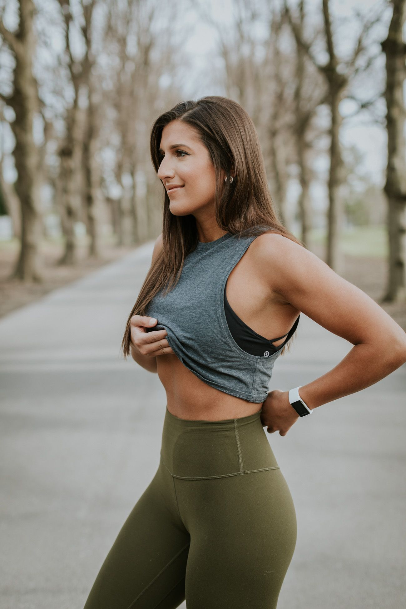 883f5b4bb2 Weekly Workout Routine  Gray Crop Top