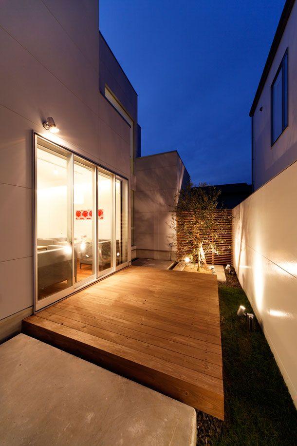中庭のライトアップがキレイな家 間取り 福井県敦賀市 ローコスト