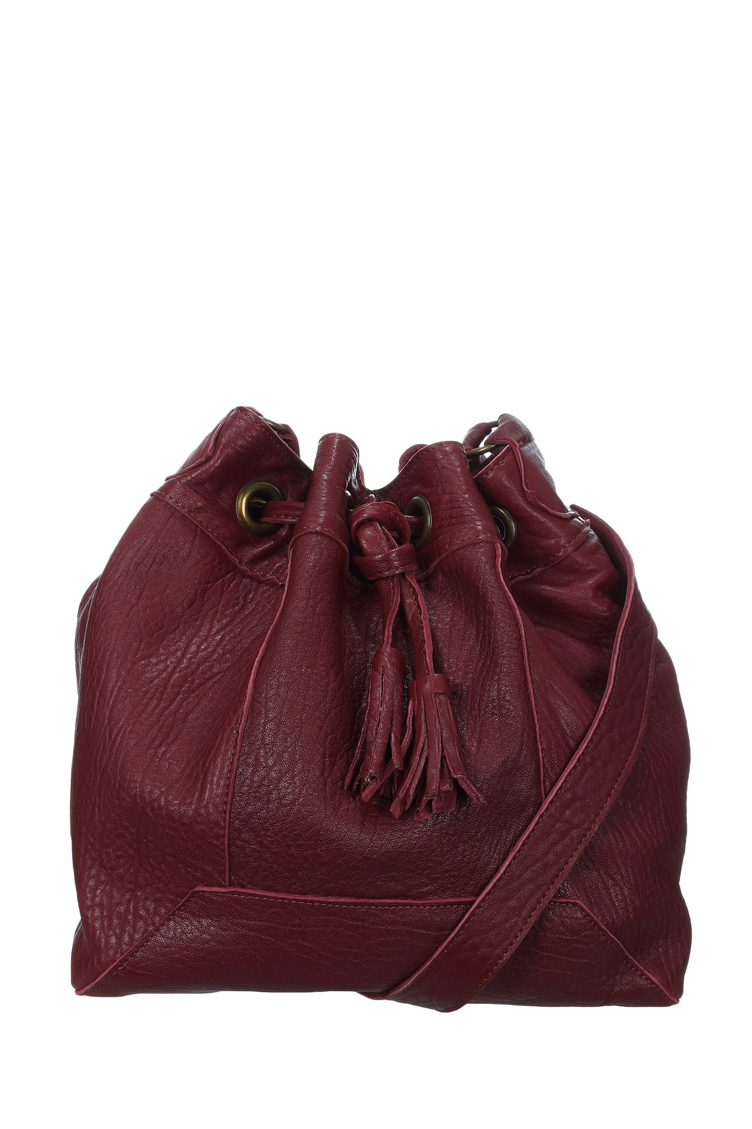 8093d1635a38a Sac boule en cuir bubble Lola Made in France Bordeaux Créations Sacs Mary  sur MonShowroom.com