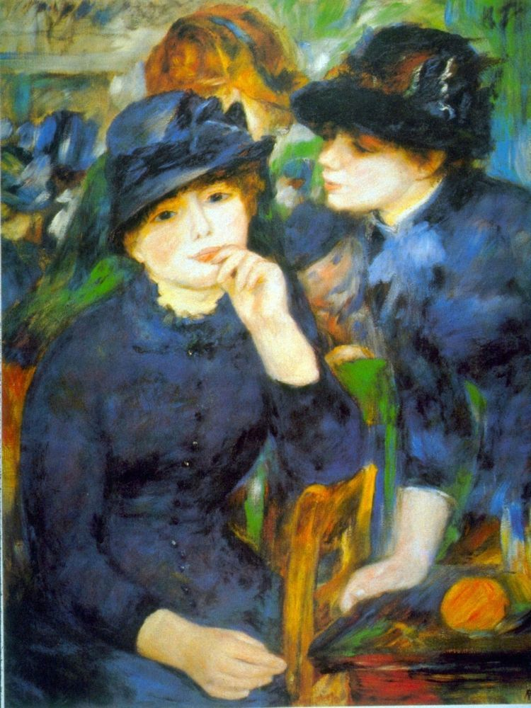 Two Girls by Pierre-Auguste Renoir Giclee Fine ArtPrint Repro on Canvas