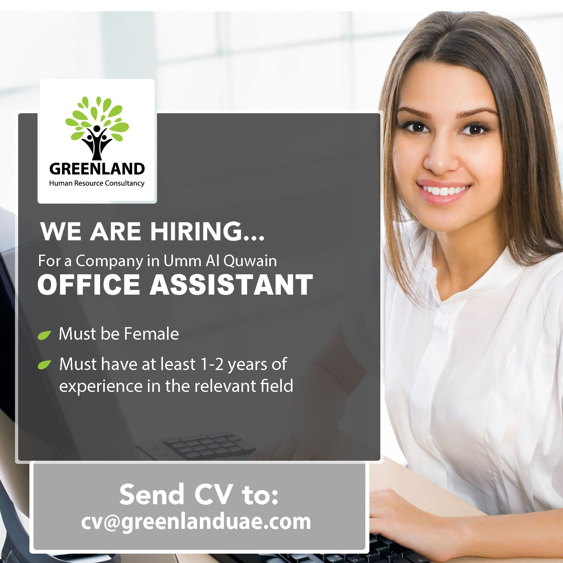 We are currently looking for an OFFICE ASSISTANT for a