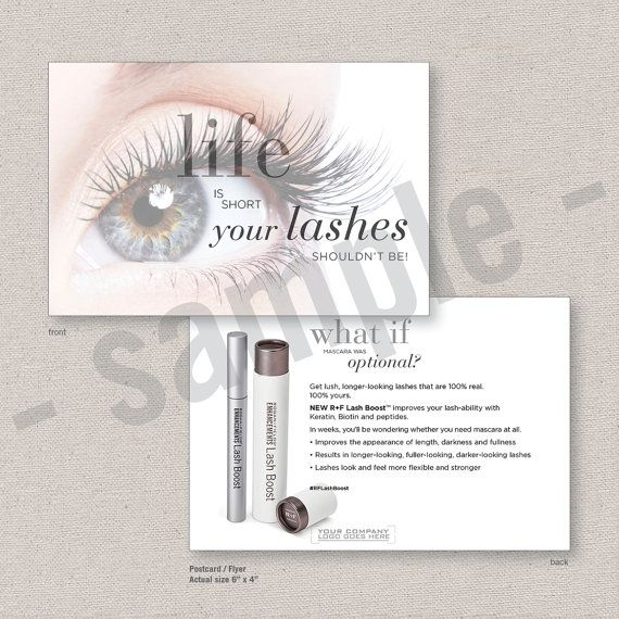 56de96e02f3 lash boost // postcard // flyer // EDITABLE by hillsteins | redefine ...