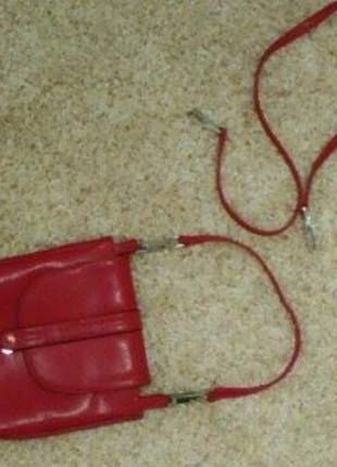 bc7d7437a951c Czerwona skórzana mała torebka Batycki
