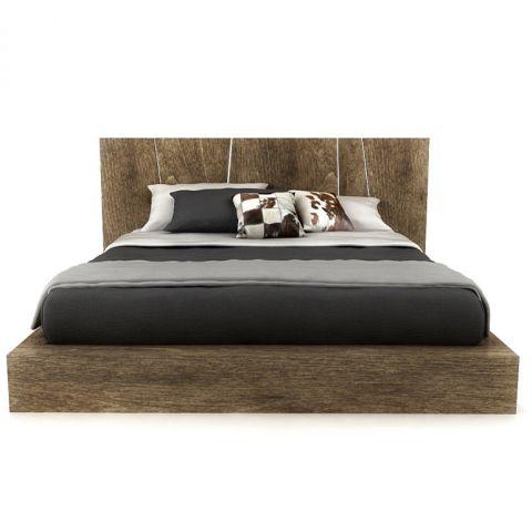 Huppe Silk Queen Bed W Led Lights Modern Platform Bed King