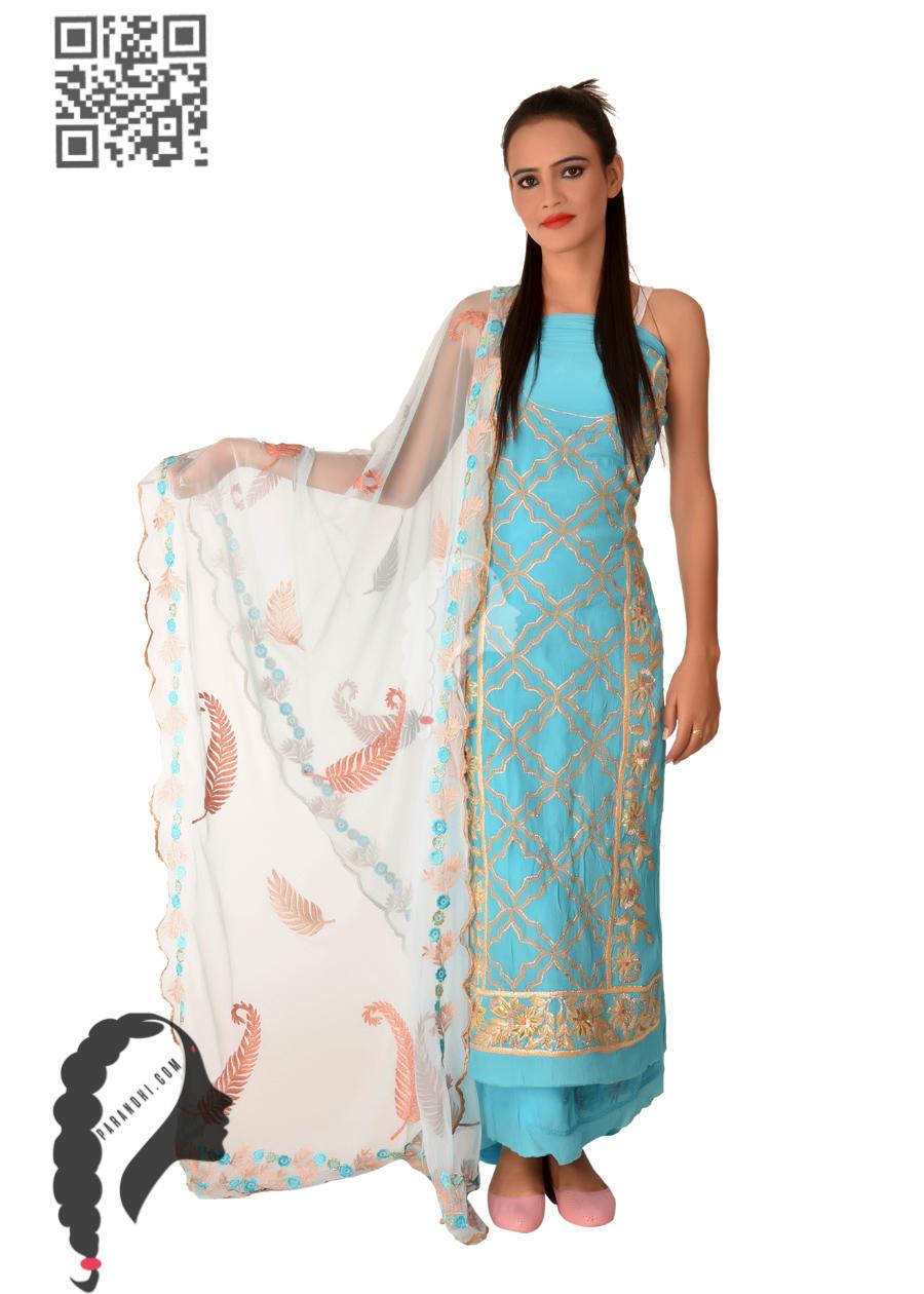 Lady In Light Ferozi Colour Suit-7420 Patiala Suits,Designer suits ...