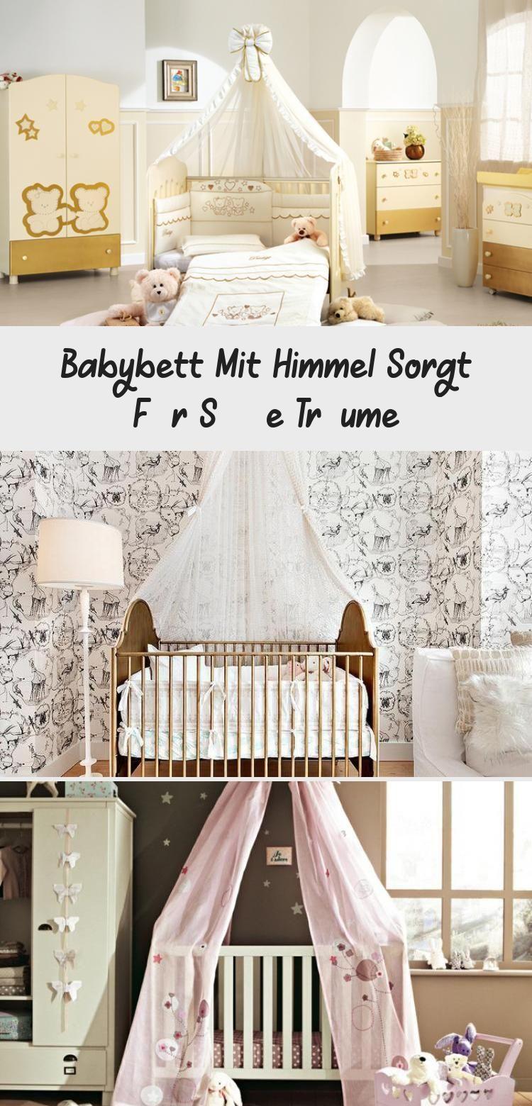 Babybett Mit Himmel Sorgt Fur Susse Traume In 2020 Babybett Babybett Himmel Bett
