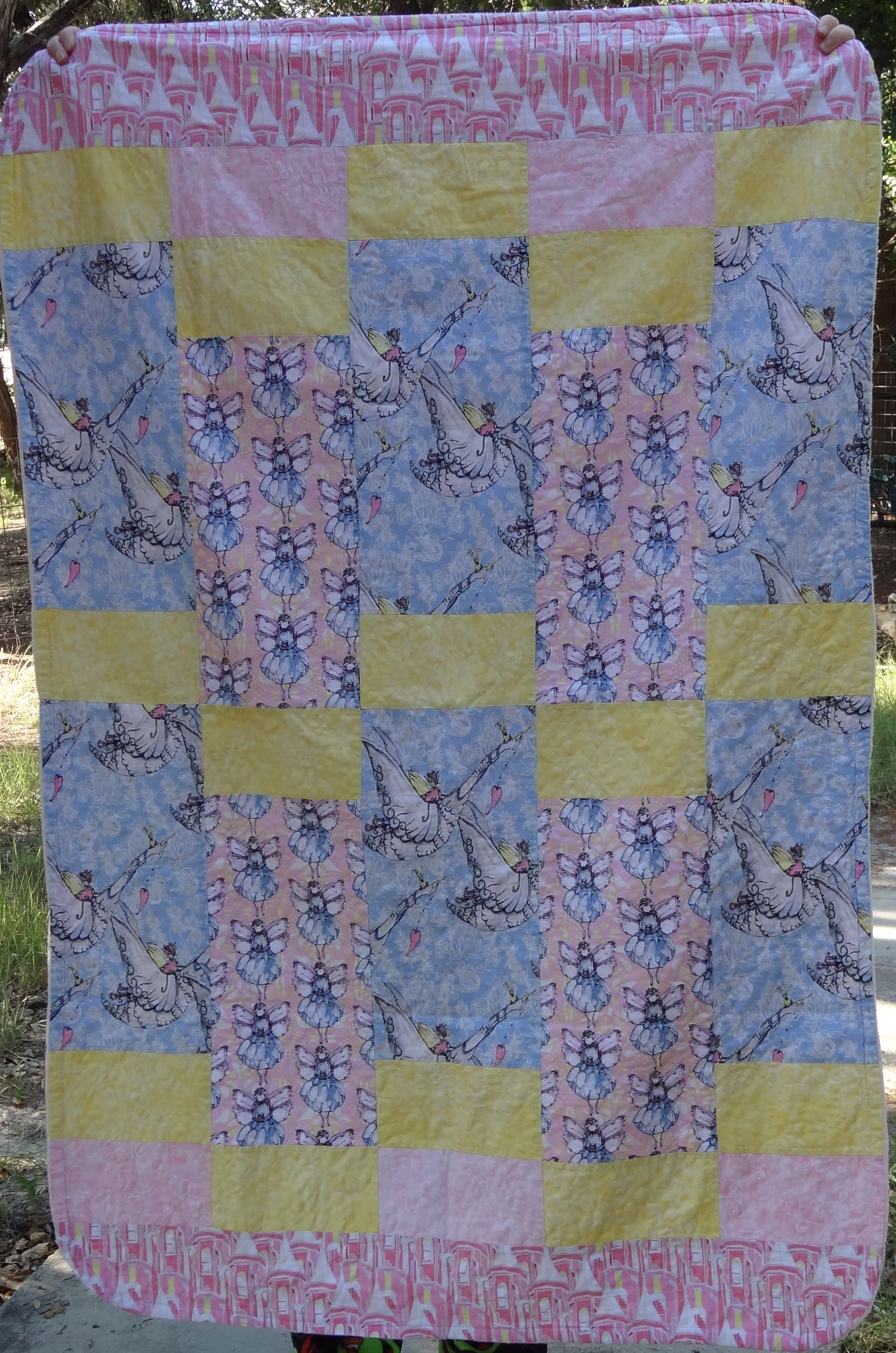Just a sweet baby girl quilt - a rainbow baby. | Baby girl ...