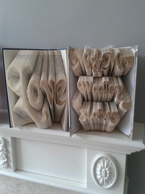 I can finally pin this now they've seen it. Love. Mr and Mrs. Bookfolding.