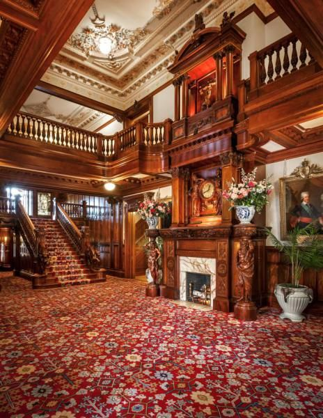 The grand hall of the Turnblad mansion