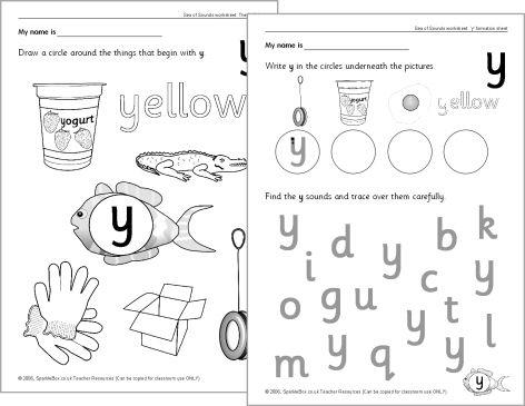 letter 39 y 39 worksheets sb528 sparklebox phonic sheets letter y worksheets worksheets. Black Bedroom Furniture Sets. Home Design Ideas