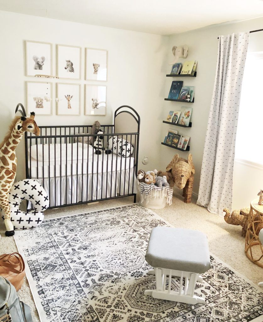 Gender Neutral Safari Nursery Baby